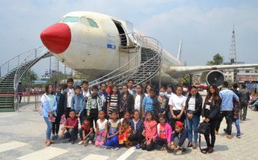 Visita al museu de l'aviació