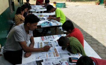 Cartoon vegetable activity at Balmandir