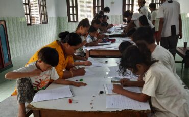 Literacy exam, the first time in an exam hall